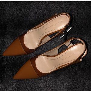 Zara Shoes - Vinyl Slingback Heels